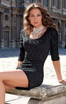 vestidos modernos color negro