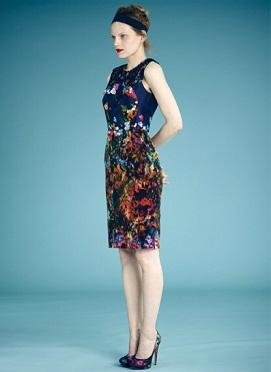 vestidos cortos estampados de oficina