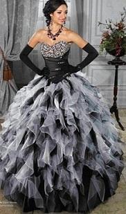 vestidos con plumas para quinceaños