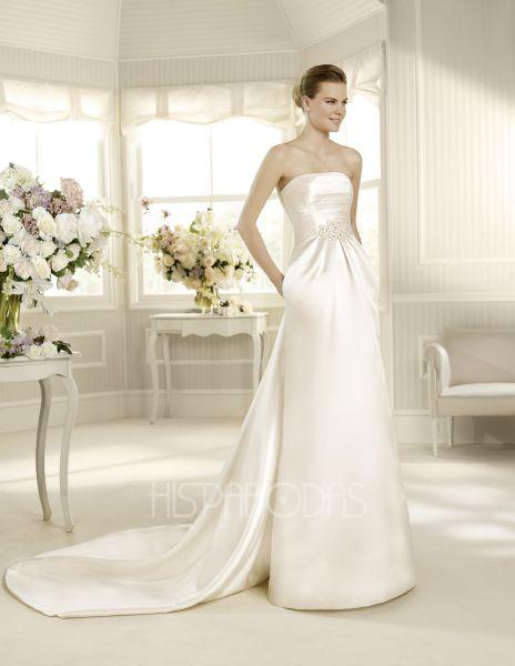 vestidos románticos para novias