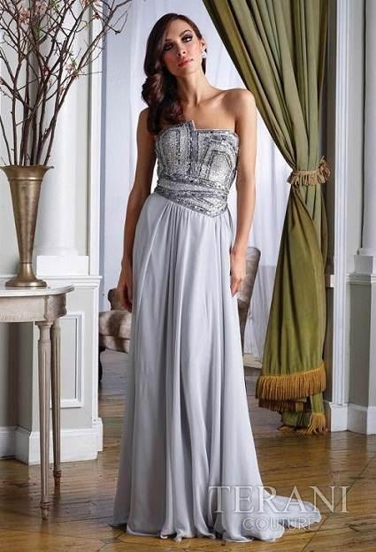 vestidos brillantes color blanco