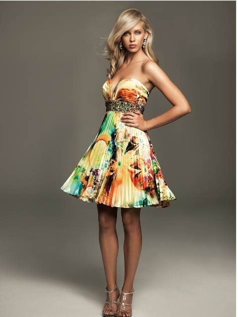 vestidos cortos vaporosos