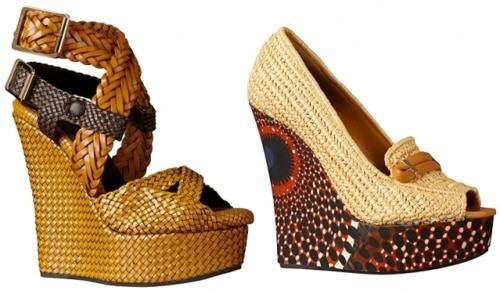 zapatos taco cuña