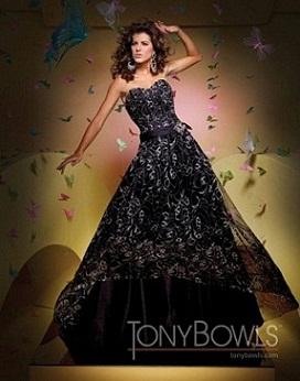 vestidos brillantes negros