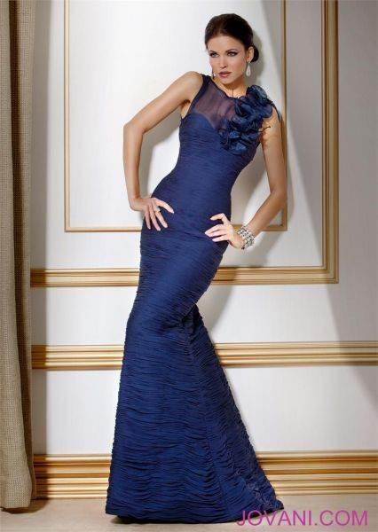 vestidos vaporosos color azul