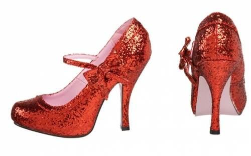 zapatos altos rojos