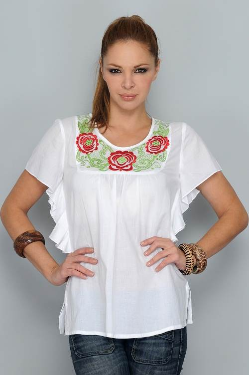 Modelos De Blusas Blancas | Moda, vestidos de boda, complementos ...