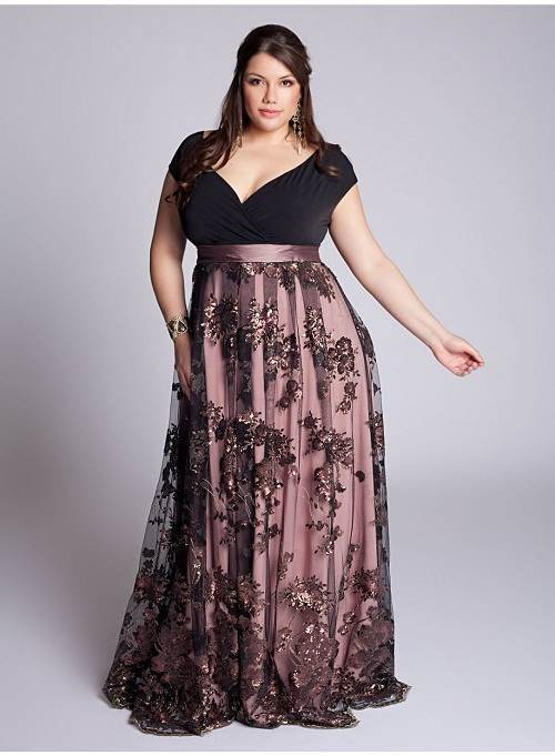 vestidos elegantes de noche gorditas