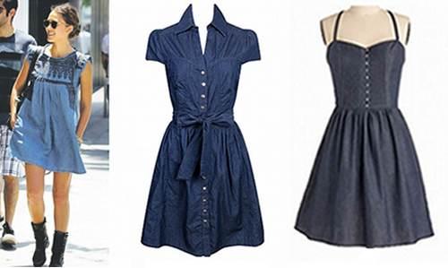 vestidos elegantes de jean