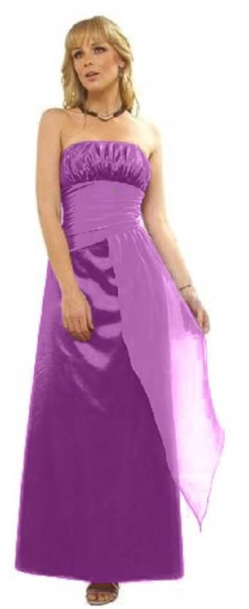 vestidos de gasa color morado
