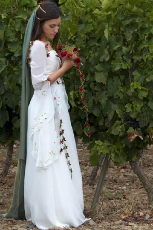 vestidos rojos de novia