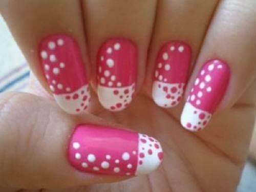 manicura elegante de uñas