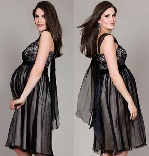 vestidos de jean para embarazadas