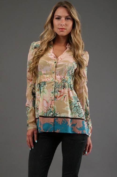 vestidos floreados de moda con manga