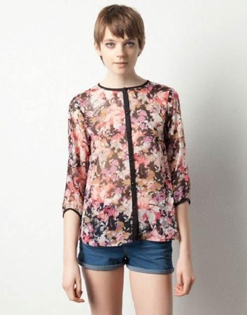 blusas elegantes manga larga