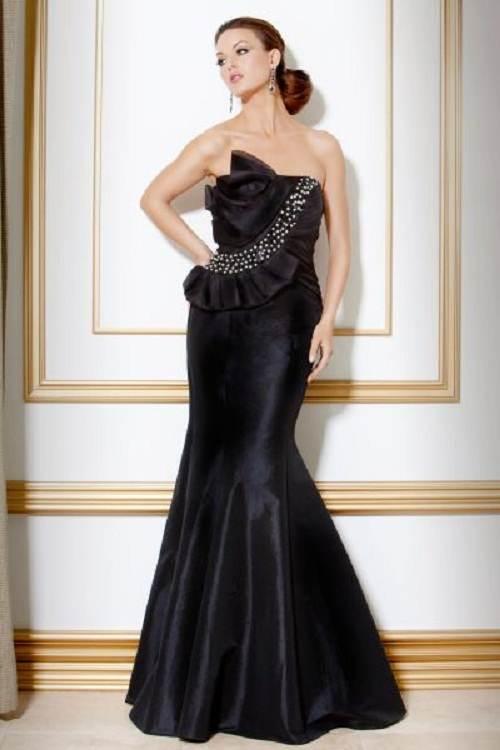 vestidos corte sirena color negro