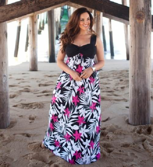 fa19fac424045 Modelos de maxi vestidos para gorditas