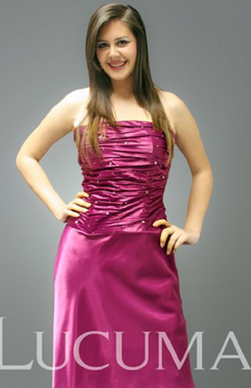 Modelos de vestidos morados para la noche | AquiModa.com
