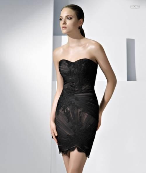 modelos de vestidos negros de verano 2012