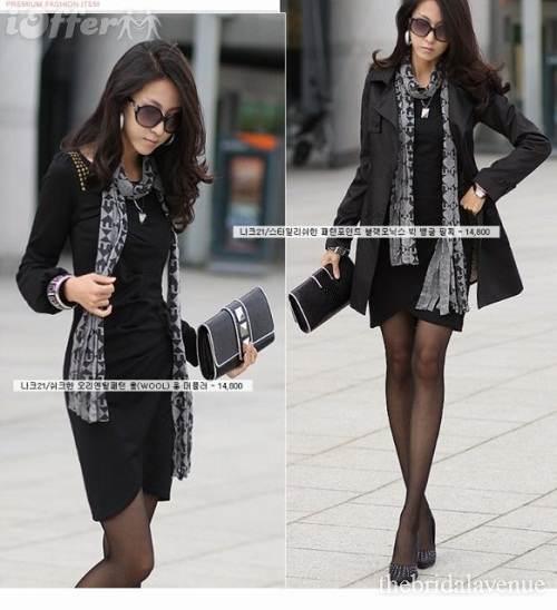vestidos negros y blancos