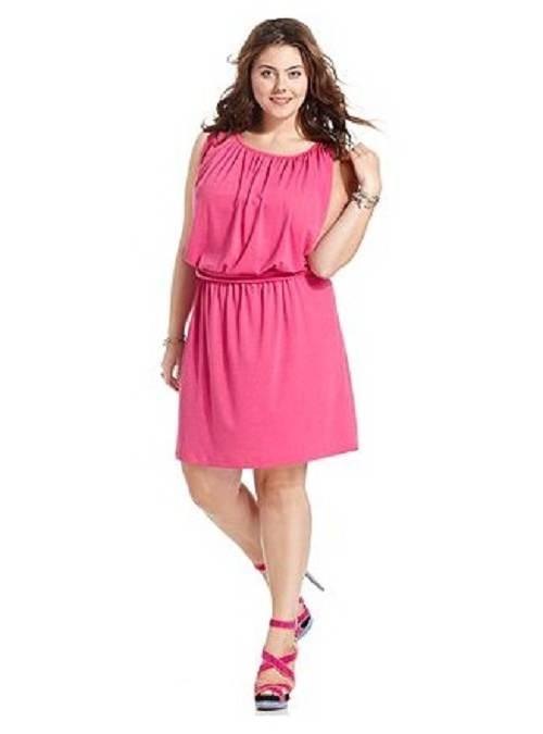 vestidos color rosa para gorditas