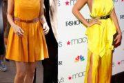 Modelos de vestidos amarillos para fiestas elegantes