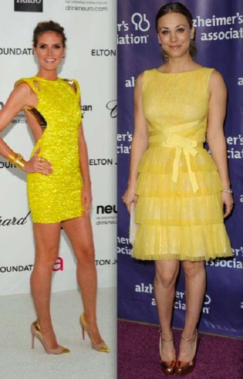 Vestidos de noche elegantes color amarillo