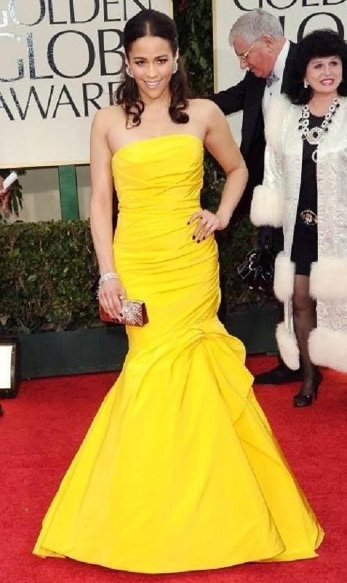 vestidos largos y cortos amarillos