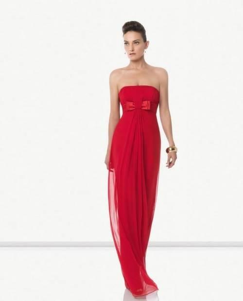 vestidos sencillos color rojo