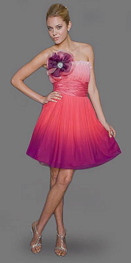 Vestidos cortos de fiesta en color rosa – Vestidos de moda de esta ...