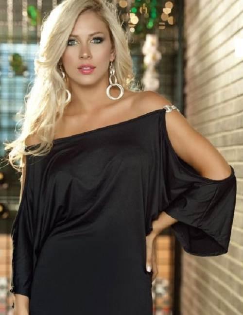ropa elegante color negro