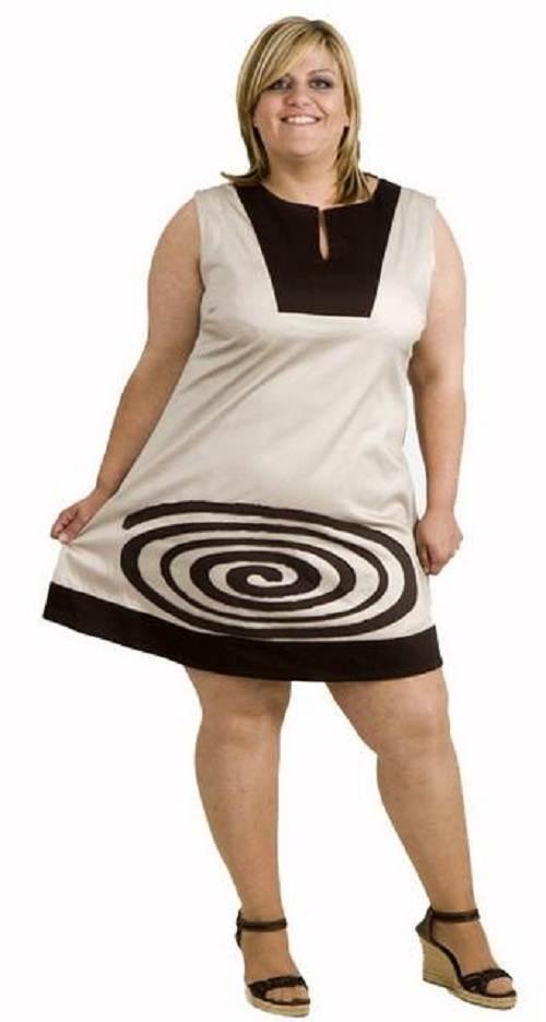 vestidos simples para gorditas