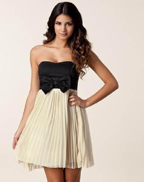 vestidos de dos colores de fiesta