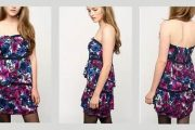 Modelos de vestidos cortos floreados