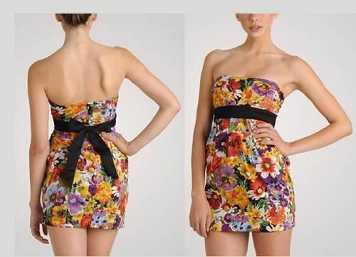 vestidos floreados con tiras