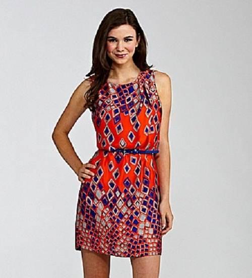 vestidos muy coloridos de día