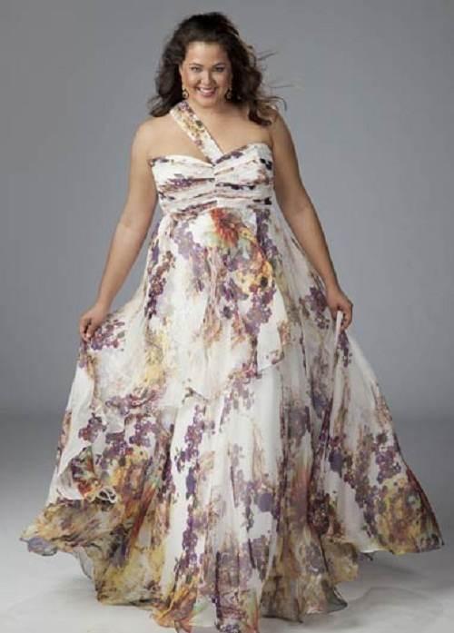 Modas de vestidos estampados para gorditas