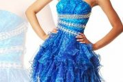 Vestidos espectaculares de color azul
