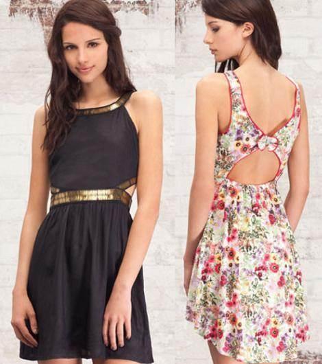 vestidos de colores combinados