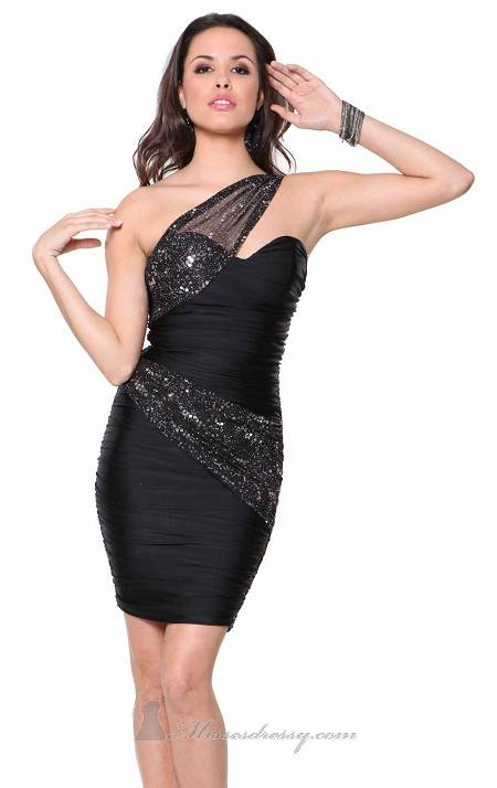 vestidos negros de noche