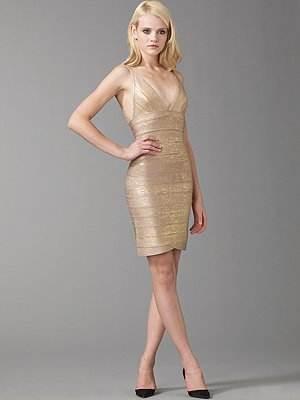 vestidos brillantes dorados