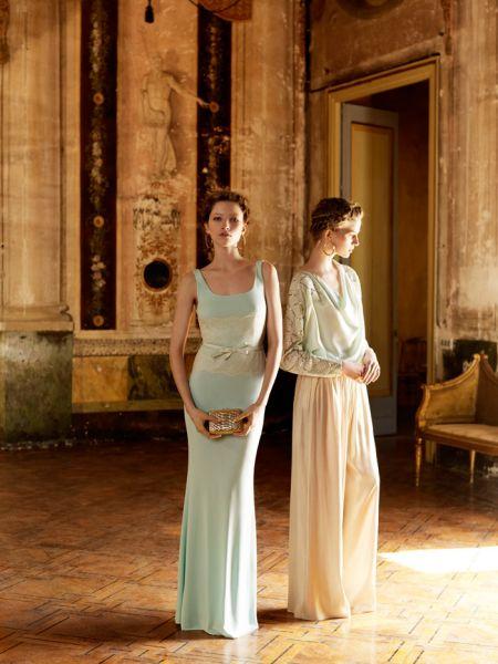 vestidos largos con capas