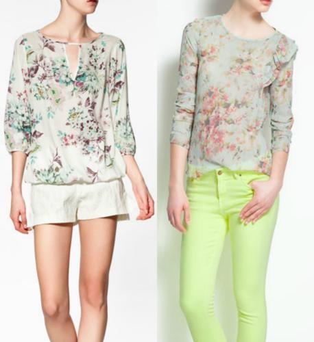 Ropa floreada de moda primavera/verano 2012