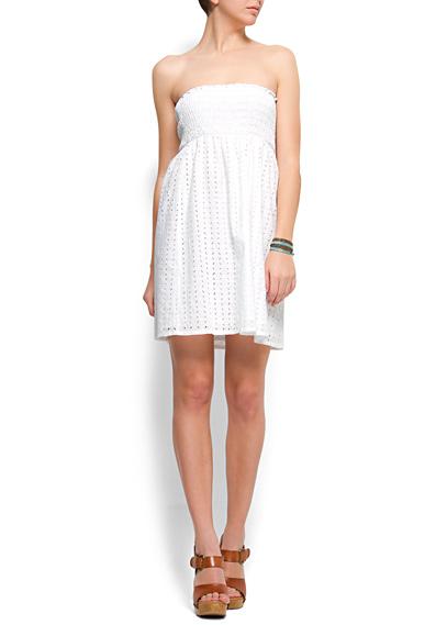 vestidos blancos con escotados