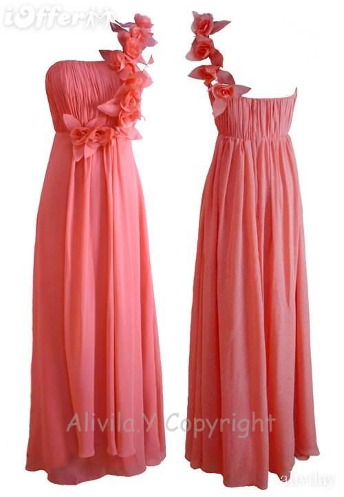 vestidos largos con rosas