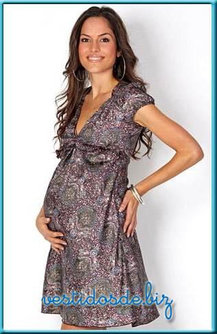 vestidos apretados de maternidad