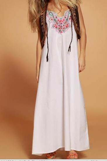 vestidos floreados de moda verano