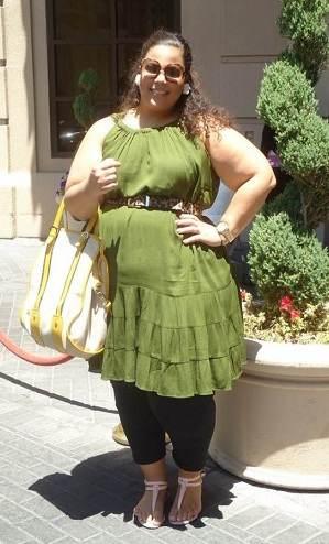 vestidos verdes gorditas