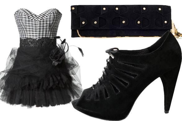 zapatos negros altos