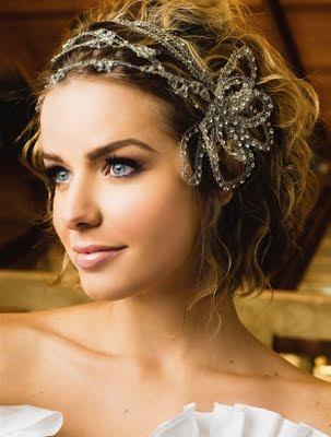 Peinados sencillos para novias 2012